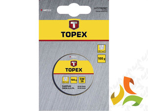 Lut cynowy 60% Sn, drut 1.5mm,100g 44E532 TOPEX
