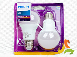 (2-pak) Żarówka LED 100W A60 E27 WW 230V FR ND 2BC/6 871869658609900 PHILIPS