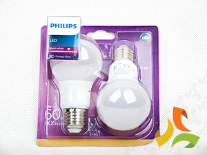 (2-pak) Żarówka LED 60W A60 E27 WW 230V FR ND 2BC/6 871869657683000 PHILIPS